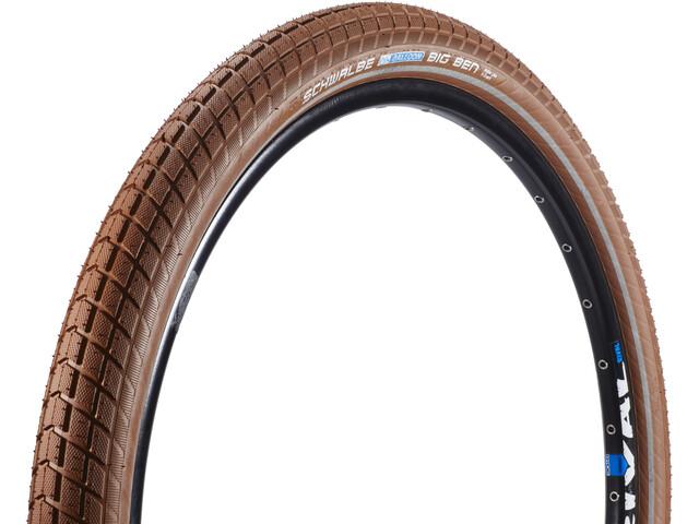 """SCHWALBE Big Ben Clincher Tyre Active 26"""" K-Guard Twin, brown-reflex"""